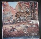 Deer, Buck w/Ducks S653P Tapestry Fabric Panel Serged