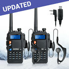 New Version 2*BAOFENG UV-5X 136-174/400-520MHz Two-Way Radio FM+Program Cable