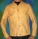 60s Groovy Mod Hippy Hippie Lounge Swank Leather Two Pocket Snap Closure Jacket