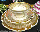 BAVARIA GERMANY TEA CUP AND SAUCER TRIO GOLD GILT PATTERN TEACUP
