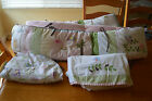 Pottery Barn Kids Baby Nursery HAYLEY Quilt Bumper Sheet Crib Bedding Set