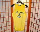 DSQUARED2 YELLOW TANK TOP MUSCLE SLEEVELESS T SHIRT VINTAGE jean XS X SMALL S