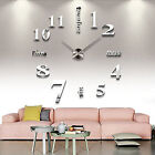 Large Wall Clock 3D Sticker Art DIY Design For Home Office Room Decor