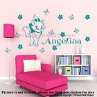 Disney Marie Cat Personalised name sticker Disney wall sticker Girl room decal