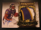 2008 Exquisite Ray Rice RC Auto 4 Color Baltimore Ravens Logo Jersey Patch # 199