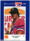 AU RC JOSE CANSECO 1985 Huntsville Stars Blank Back ROOKIE AUTO PROOF CARD 85 WS