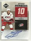 2011-12 Panini LIMITED Retired Numbers Autograph #9 RON FRANCIS Serial #24 25