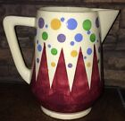 VTG Schramberg SMF German Pottery Eva Zeisel DECO Geometic Pitcher