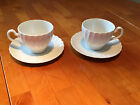 Johnson Brothers Regency White Cups and Saucers, set of 2