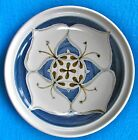 "LGE 12"" White/Blue/Brown Floral European MM POTTERY SHALLOW SERVING BOWL/PLATTER"