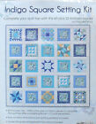 JO ANN QUILT BLOCKS INDIGO SQUARE SETTING KIT ONLY NEW  BEAUTIFUL