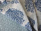 LAURA ASHLEY CORAL KING Quilt Sealife Blue Teal White COASTAL TROPICAL