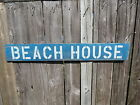38 INCH BEACH HOUSE WOOD HAND PAINTED SIGN NAUTICAL SEAFOOD (#S456)