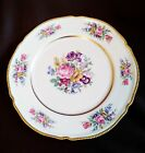 Castleton Rose Dinner Plate, Pink, White, Purple, Floral, Gold Beadwork