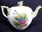 HEREND QUEEN VICTORIA TEAPOT,WITH  BUTTERFLY LID END,FOR SIX TEA CUPS
