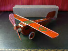 Extremely rare 1920's OROBR Tin Wind-up Monoplane Airplane w/ Original Box