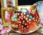 LIMOGES FRANCE HANDPAINTED ARTIST SIGNED PITCHER PAINTED CURRENTS PATTERN