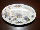 VINTAGE D.H. Holmes Hand-Painted Japanese Porcelain Soap Dish - Gold Blue