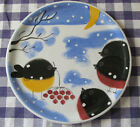Holiday Platter or Serving Plate - Robins in Winter - Made in Estonia