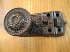 ANTIQUE  VICTORIAN  RIM  LOCK  DOOR  LATCH  AND  DOOR  KNOBS