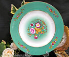 ANTIQUE FRENCH HANDPAINTED PLATE 1890'S FLORAL GOLD GILT