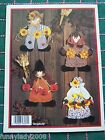10 Seasonal Sewing Patterns Character Wreath Door Hanger Santa Snowman Witch