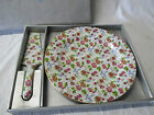 Formalities by Baum Bros CAKE PLATE & Server in Box Chintz Floral Pattern LOVELY