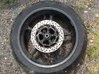 YAMAHA MT03 660 REAR WHEEL TYRE DISC LOW MILES COMPLETE FREE POST OEM