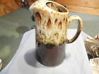 Cannonsburg Pottery Brown Drip Large PITCHER  Carefree Ironstone