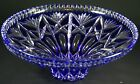 IMPERLUX Cobalt BLUE Cut to Clear Crystal BOWL 10