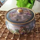 Empire China Grape Vine Pattern Sugar Bowl With Lid Vintage
