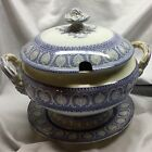Stunning Antique Soup Tureen Porcelain Amethyst