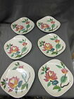 Vtg RED WING Hand Painted PLATES Set of 6 VERY NICE 6