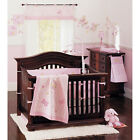 Crib Bedding Set 9 Piece Nursery Baby Girl Pink Butterfly Embroidery Cotton New