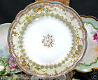 LIMOGES FRANCE HAND PAINTED 1880'S PLATE BEADED JEWELED DESIGN