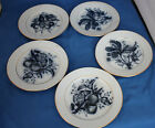 ANTIQUE 1878 P. Regout & Co Maastricht Fruit Small Plates  7 3/4 in. ~ 3 DESIGNS