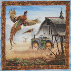 Before the Frost (D) fabric panel square quilt block cotton pheasants wildlife