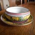 Vintage Royal Winton Grimwades Small Bowl Plate-YELLOW COURTING COUPLE-England