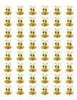 48 HONEY BUMBLE BEE ENVELOPE SEALS LABELS STICKERS 12 ROUND