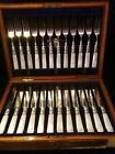 Antique Henry Rogers, Sons & Co SHEFFIELD Sterling Silver Mother Pearl 24 Pc