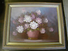 Original Oil Painting by Robert Cox - Signed - Flowers Bouquet Framed  291506