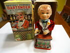 1960's Bartender RARE! (Rotating Eyes) Battery Mechanical Operated Tin Toy MIB