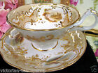 ANTIQUE 1840's RIDGWAY TEA CUP AND SAUCER PAINTED SCENES TEACUP