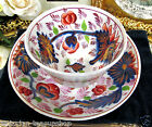 ANTIQUE 18th C. early victorian TEA CUP AND SAUCER TEA BOWL COBALT BLUE IMARI