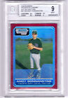 2006 Bowman Chrome Andy Sonnanstine RED Refractor Rookie #d 5 BGS 9
