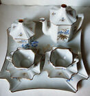 Vintage Porcelain Teapot, Sugar Bowl w 2 Cups/Saucers Marked Firenze Italy