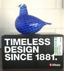 Iittala Oiva Toikka Art Glass Bird Blue Bird New With Box