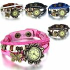 Fashion Butterfly Bracelet Watch Quartz Movement Wrist Watch for Womens Girls