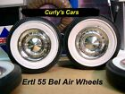 1:18 SCALE ERTL 1955 BEL AIR, STOCK WHEELS WITH WHITE WALLS, SET OF 4