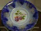 Antique Flow Blue & leaves in Gold Swag Small bowl, Dish  1.75